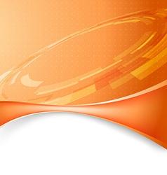 Mechanic gear orange tech background vector image vector image