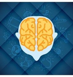 Modern Business Brain Concepts In Flat Design vector image