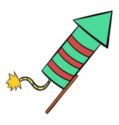party popper icon cartoon vector image