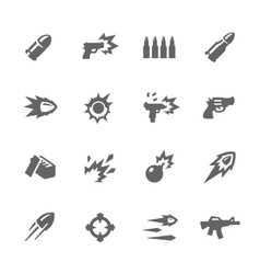 Simple Weapon Icons vector image