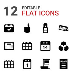 12 plan icons vector