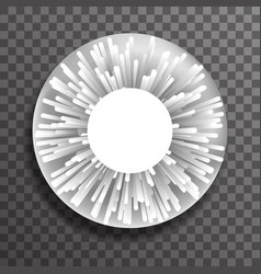 abstract dot ray sphere explosion template vector image