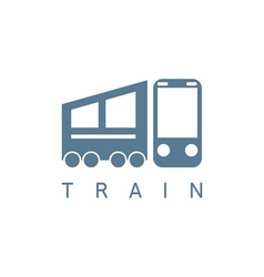 abstract icon design template of train vector image