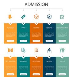 Admission infographic 10 option ui designticket vector