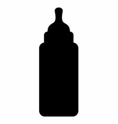 babottle silhouette vector image