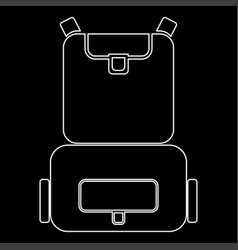 Backpack the white path icon vector