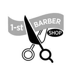 barber shop icon template scissors vector image