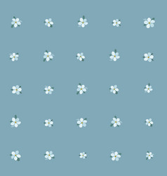 beautiful forget-me-not flower seamless pattern vector image