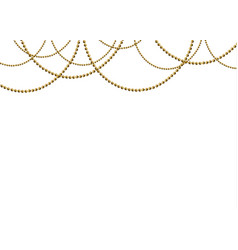 Beautiful gold beads vector