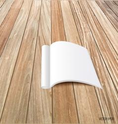 Blank catalog magazinesbook mock up on wood vector