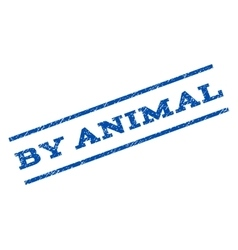 By animal watermark stamp vector