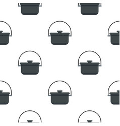 Camping pot pattern flat vector