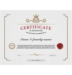Certificate template and background template vector