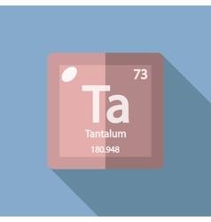 Chemical element Tantalum Flat vector