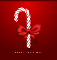 christmas or new year greeting card realistic vector image