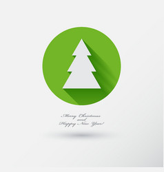 Christmas tree icon with long shadow vector
