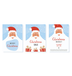 collection christmas greeting card vector image