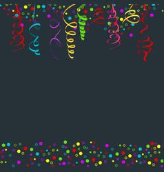 Confetti serpentine dark vector