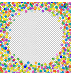 confetti with transparent background vector image