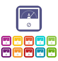 Counter icons set flat vector