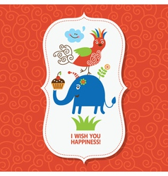 cute greeting children card vector image