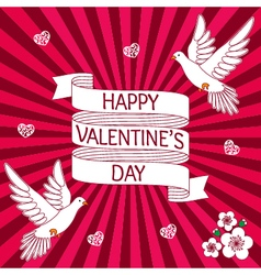 Design of a card for Valentines day vector image