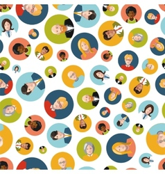 different colorful user interface avatar flat vector image