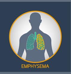 emphysema logo icon vector image
