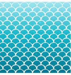 fish scale and mermaid background vector image