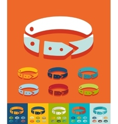 Flat design dog-collar vector image