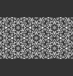 flower floral black retro fabric seamless pattern vector image