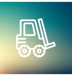 Forklift truck thin line icon vector