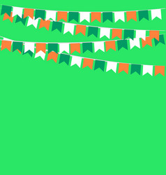 garland of flags in colors of ireland vector image