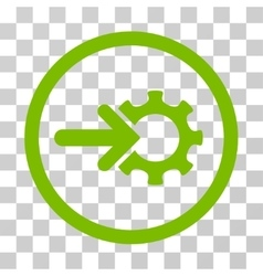 Gear Integration Rounded Icon vector
