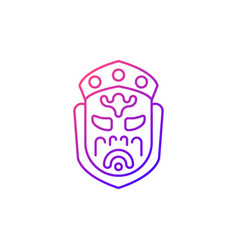 Ghost mask museum gradient linear icon vector
