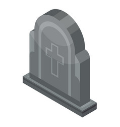 grave icon isometric style vector image