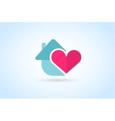 Green house home logo vector image