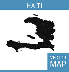 haiti map with title vector image