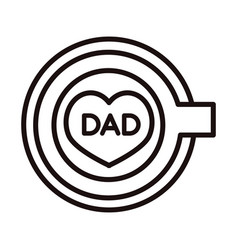 Happy fathers day top view coffee cup dad vector