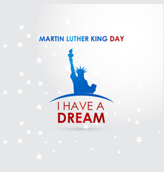 happy martin luther king day design vector image