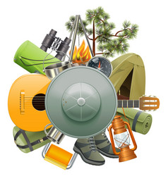 Hiking adventure concept vector