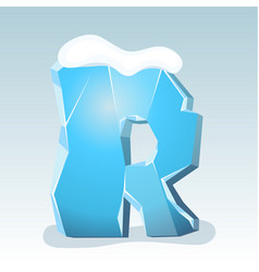 Ice letter r vector