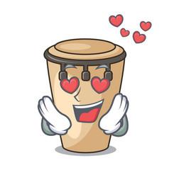 In love conga mascot cartoon style vector