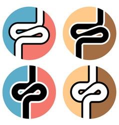 Intestines simple symbol vector
