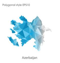 Isolated icon azerbaijan polygonal vector