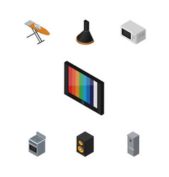 isometric technology set of air extractor cloth vector image