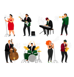 Jazz people set vector