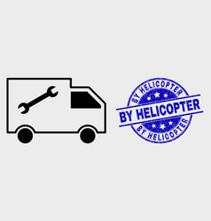 linear service van icon and distress by vector image