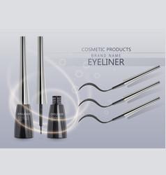 liquid eyeliner set eyeliner product mockup for vector image
