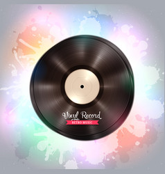 long-playing lp vinyl record music background vector image